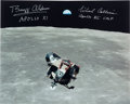Autographs:Celebrities, Apollo 11 Lunar Orbit Eagle Color Photo Signed by Buzz Aldrin and Michael Collins....
