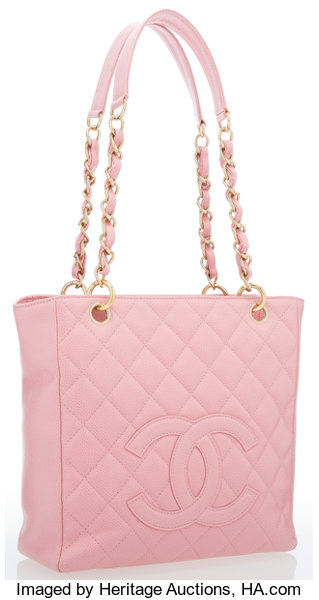 5c3ad95eb6ac ... Luxury Accessories:Bags, Chanel Pink Quilted Caviar Leather Petite  Shopping Tote Bag withGold Hardware ...