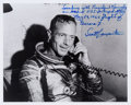 Autographs:Celebrities, Scott Carpenter Signed Photo with Desirable and ExtensiveHandwritten Description....