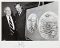 Autographs:Celebrities, Neil Armstrong and General James Doolittle Signed Photo. ...