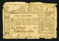 Colonial Notes:New York, New York February 16, 1771 £10 Fine-Very Fine.. ...
