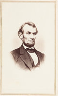 Photography:CDVs, Extremely Sharp Carte de Visite of Abraham Lincoln....