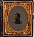 Photography:Tintypes, Sixth Plate Tintype of a Civil War Officer. ...
