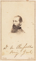 Photography:CDVs, Union General David A. Russell Carte de Visite Signed...