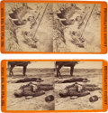Photography:Stereo Cards, Two Petersburg Dead Soldiers Stereoviews.... (Total: 2 Items)