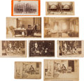 Photography:Cabinet Photos, Lot of Nine Photographs Featuring Various Views of U.S. Grant andFamily at Mt. McGregor, 1885....