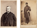 Photography:Stereo Cards, Union General Daniel Bidwell Cartes de Visite (Two).... (Total: 2 Items)