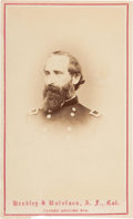 Autographs:Military Figures, Union General John S. Mason Carte de Visite Signed....