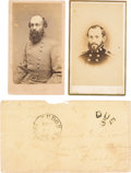 Photography:CDVs, Confederate General Edmund Kirby Smith Cartes de Visite (Two) with Envelope Signed....