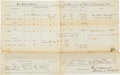 Autographs:Military Figures, Union General George Stannard Document Signed...