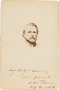 Autographs:Military Figures, Confederate General Samuel McGowan Cabinet Card Signed,...
