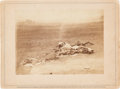 Photography:Cabinet Photos, Confederate Dead at Antietam Album Card by Mathew Brady....
