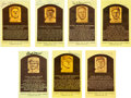 Autographs:Post Cards, 1960's-80's Hall of Famers Signed Postcards Lot of 34....