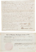 Miscellaneous:Ephemera, Battle of Antietam War Claims: Group of Three Unique Documents....(Total: 3 Items)