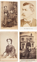 Photography:CDVs, Union General and Mrs. George B. McClellan Group of Four Cartes de Visite. ... (Total: 4 Items)