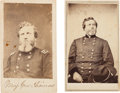 Photography:Stereo Cards, Union General George H. Thomas Cartes de Visite (Two)....