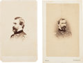 Photography:Stereo Cards, Union General William T. H. Brooks Cartes de Visite (Two).... (Total: 2 Items)