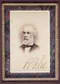 Autographs:Military Figures, Robert E. Lee Carte de Visite Signed....