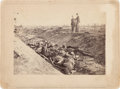 Autographs:Military Figures, Brady Photograph of Confederate Dead in a Ditch at Antietam....