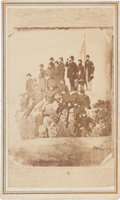 Photography:CDVs, Ulysses S. Grant and Staff at Lookout Mountain Carte de Visite,...