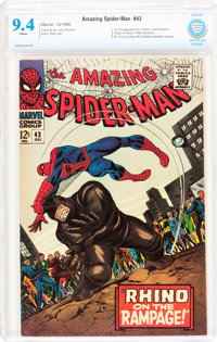 The Amazing Spider-Man #43 (Marvel, 1966) CBCS NM 9.4 White pages