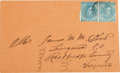 Miscellaneous:Ephemera, Confederate Cover with Army of Northern Virginia Cancellation on aPair of 5¢ Stamps. ...
