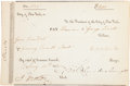 Autographs:Statesmen, DeWitt Clinton Document Signed as Mayor of New York City....