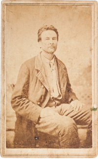 Carte de Visite of Confederate Guerrilla Champ Ferguson, Convicted of War Crimes and Hung, October 20