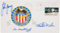Explorers:Space Exploration, Apollo 16 Crew-Signed Insurance Cover Originally from the PersonalCollection of Mission Commander John Young, Signed and Cert...