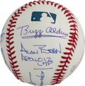 Autographs:Celebrities, Apollo Moonwalkers: Baseball Signed by the Eight Living Moonwalkers....