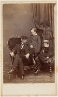 Photography:CDVs, Willie and Tad Lincoln with Their Cousin Lockwood Todd Carte de Visite...