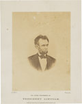 Photography:CDVs, Abraham Lincoln Albumen Photograph....