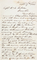 Autographs:Military Figures, [Confederate Seizure of the Harpers Ferry Armory]. Confederate Colonel Oliver R. Funsten Autograph Letter Signed....