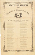 "Miscellaneous:Broadside, Union Broadside: ""New Year's Address to the Soldiers ofSherman's Grand Army"" with a Soldier's Letter on the R..."
