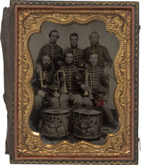 Civil War Musicians Sixth Plate Cased Tintype