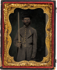 Confederate Soldier Quarter Plate Tintype