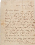 """Autographs:Military Figures, Confederate General Thomas """"Stonewall"""" Jackson Autograph Letter Signed with Additional Signed Cover.... (Total: 2 Items)"""