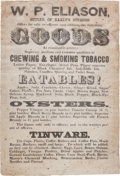 Miscellaneous:Ephemera, Confederate Broadside for a Sutler in Jubal Early's Division....