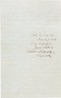 Autographs:Military Figures, [Fort Sumter]. Union Major Robert Anderson Signature and Cover.... (Total: 2 Items)