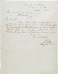 Autographs:Military Figures, Robert E. Lee Letter Signed with One Related Document.... (Total: 2Items)