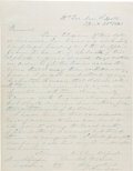 Autographs:Military Figures, Confederate General James Longstreet Autograph Letter Twice Signed....