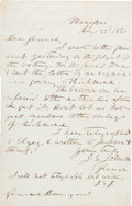 Autographs:Military Figures, [Civil War Ballooning]. Confederate General Joseph E. Johnston Autograph Letter Twice Signed....