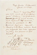 Autographs:Military Figures, Confederate General Roswell S. Ripley Autograph Letter Signed....