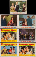 "Movie Posters:Adventure, Elephant Walk & Other Lot (Paramount, 1954). Lobby Cards (7)(11"" X 14""). Adventure.. ... (Total: 7 Items)"