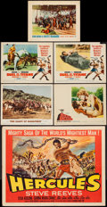 """Movie Posters:Action, Hercules & Others Lot (Lux Film, 1959). Half Sheet (22"""" X 28""""), Lobby Cards (5) (11"""" X 14"""") Style B. Action.. ... (Total: 6 Items)"""