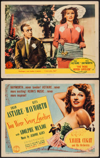 """You Were Never Lovelier (Columbia, 1942). Title Lobby Card & Lobby Card (11"""" X 14""""). Musical. ... (Total:..."""
