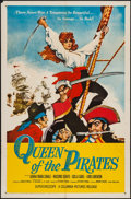 "Movie Posters:Adventure, Queen of the Pirates (Columbia, 1961). One Sheet (27"" X 41"").Adventure.. ..."
