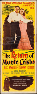 "Movie Posters:Adventure, The Return of Monte Cristo (Columbia, 1946). Insert (14"" X 36"").Adventure.. ..."