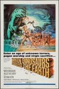 """Movie Posters:Fantasy, When Dinosaurs Ruled the Earth (Warner Brothers, 1970). One Sheet (27"""" X 41""""). Fantasy.. ..."""