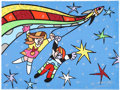 """Explorers:Space Exploration, Romero Britto Signed Limited Edition """"Buzz Aldrin Space Series V"""" Mixed Media Giclée Canvas, #22/66, Also Signed by Buzz A..."""
